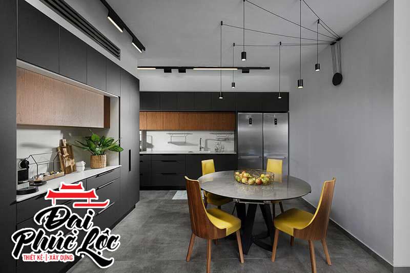 Nội thất khu bếp của căn hộ 60m2