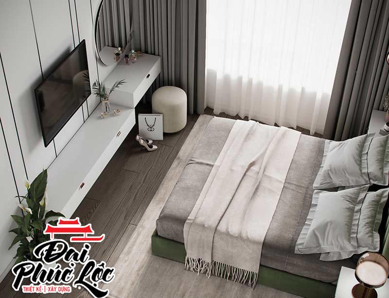 nội thất phòng ngủ căn hộ chung cư 70m2