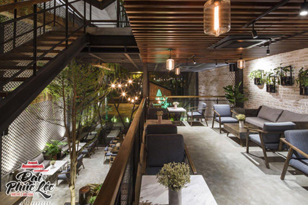 Thiết kế thi công nội thất quán cafe đẹp