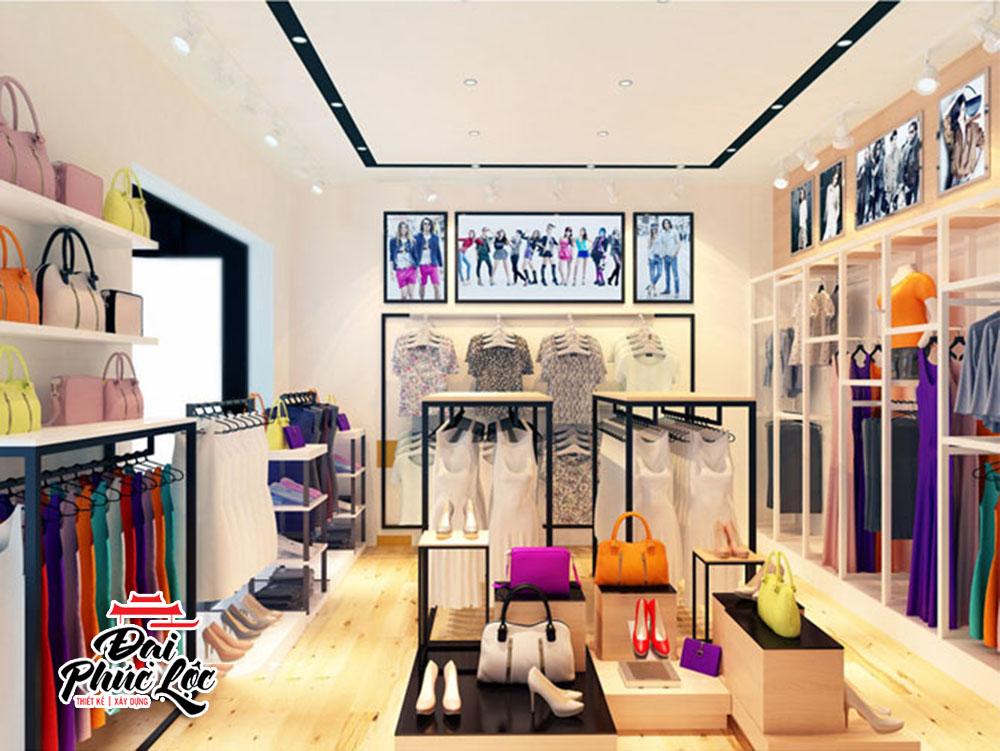 thiết kế nội thất shop bán hàng thời trang