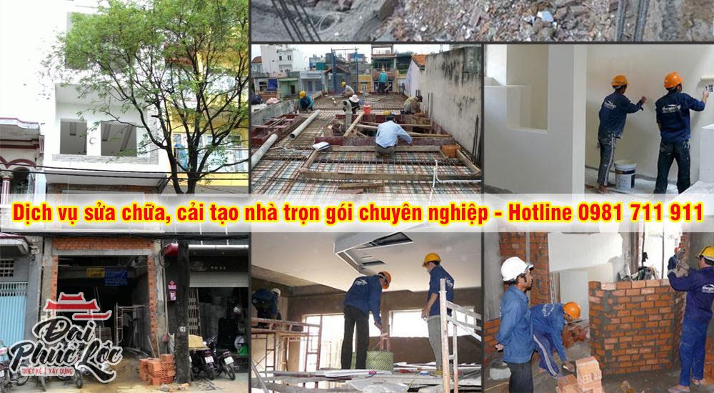 Dịch vụ sửa chữa, cải tạo nhà chuyên nghiệp