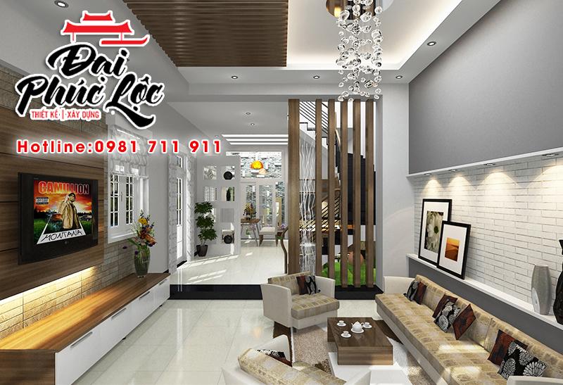 Thiết kế thi công nội thất nhà phố đẹp, hiện đại